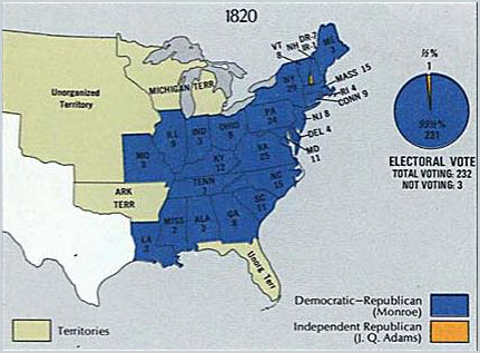 Electoral Votes of the 1820 Presidential Election