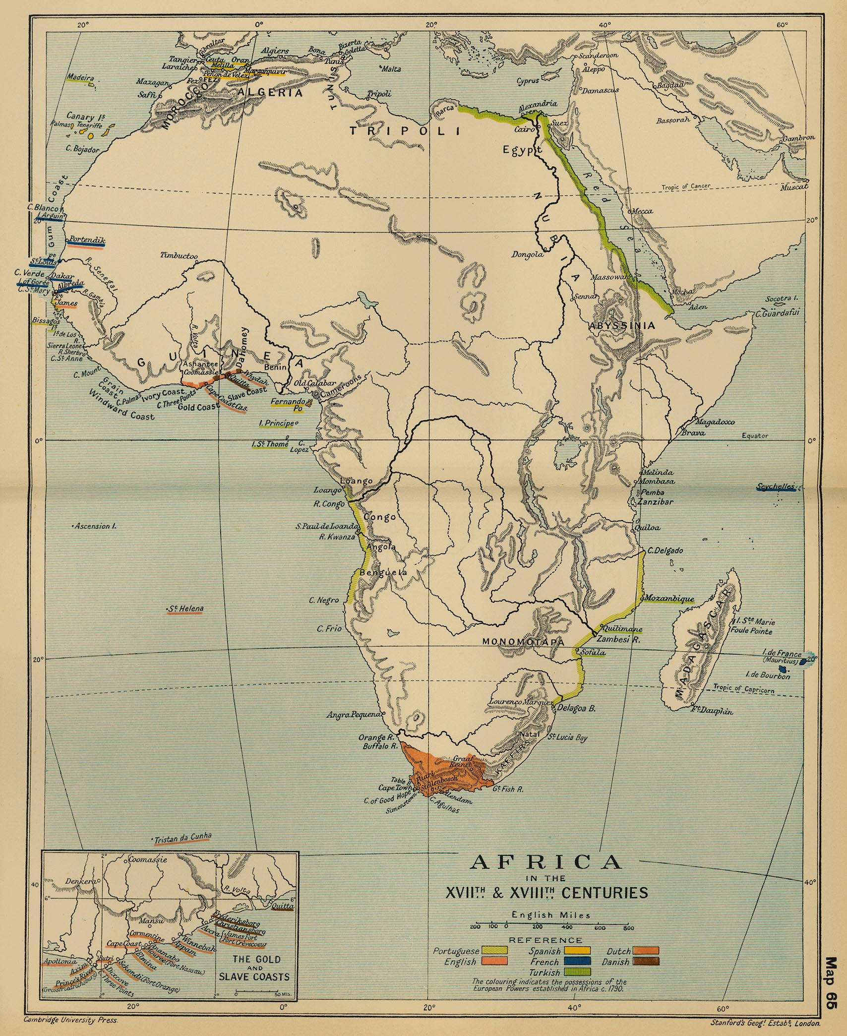 Map Of Africa In 1800.Map Of Africa 17th And 18th Century
