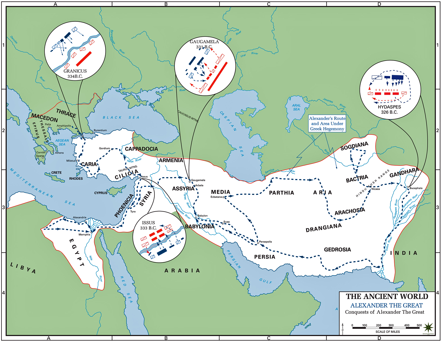 of the Conquests of Alexander the Great 336323 BC – Alexander the Great Worksheet