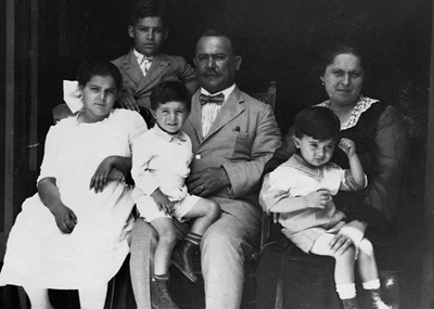 ALVARO OBREGON WITH HIS WIFE AND FOUR CHILDREN