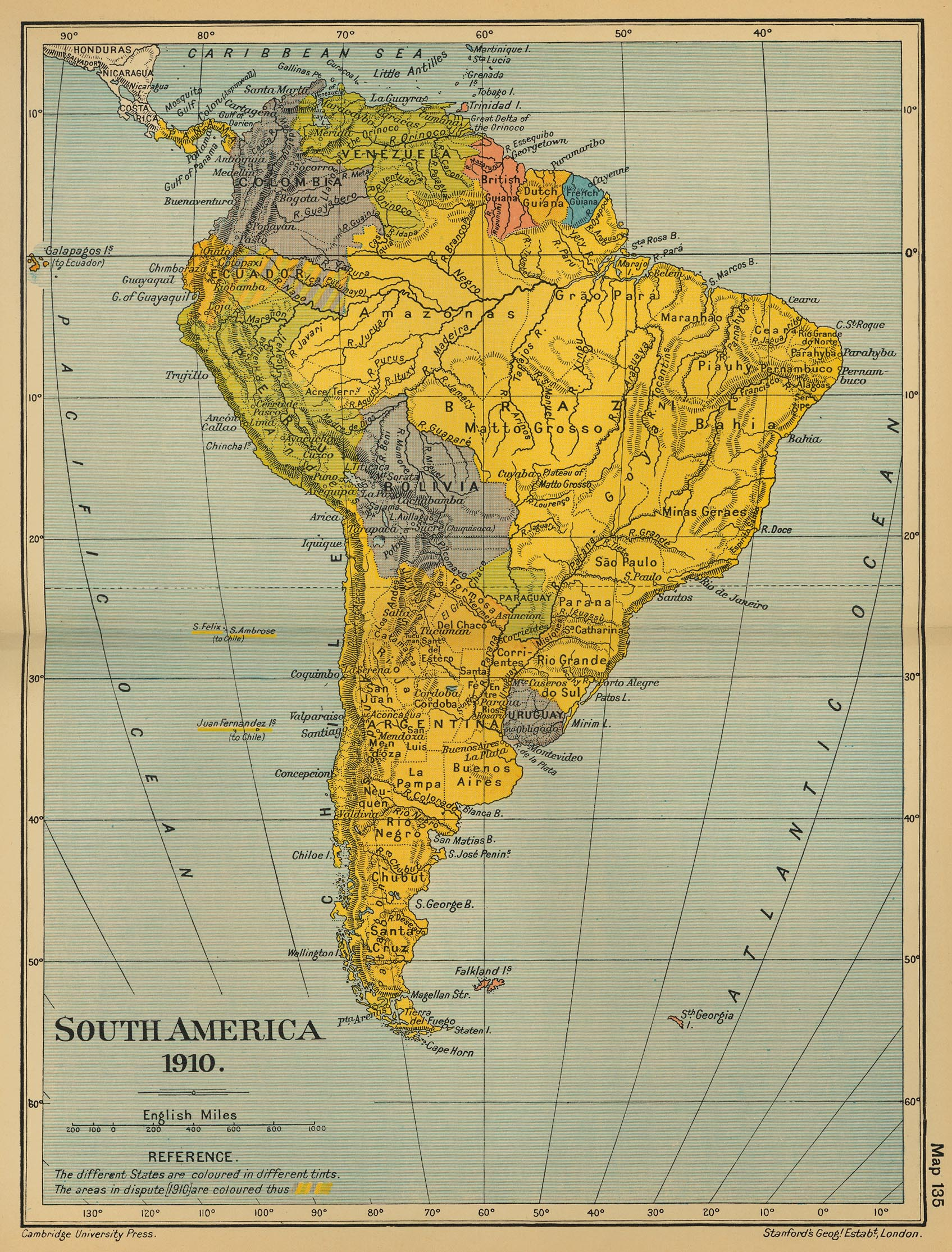 Of South America - S america map