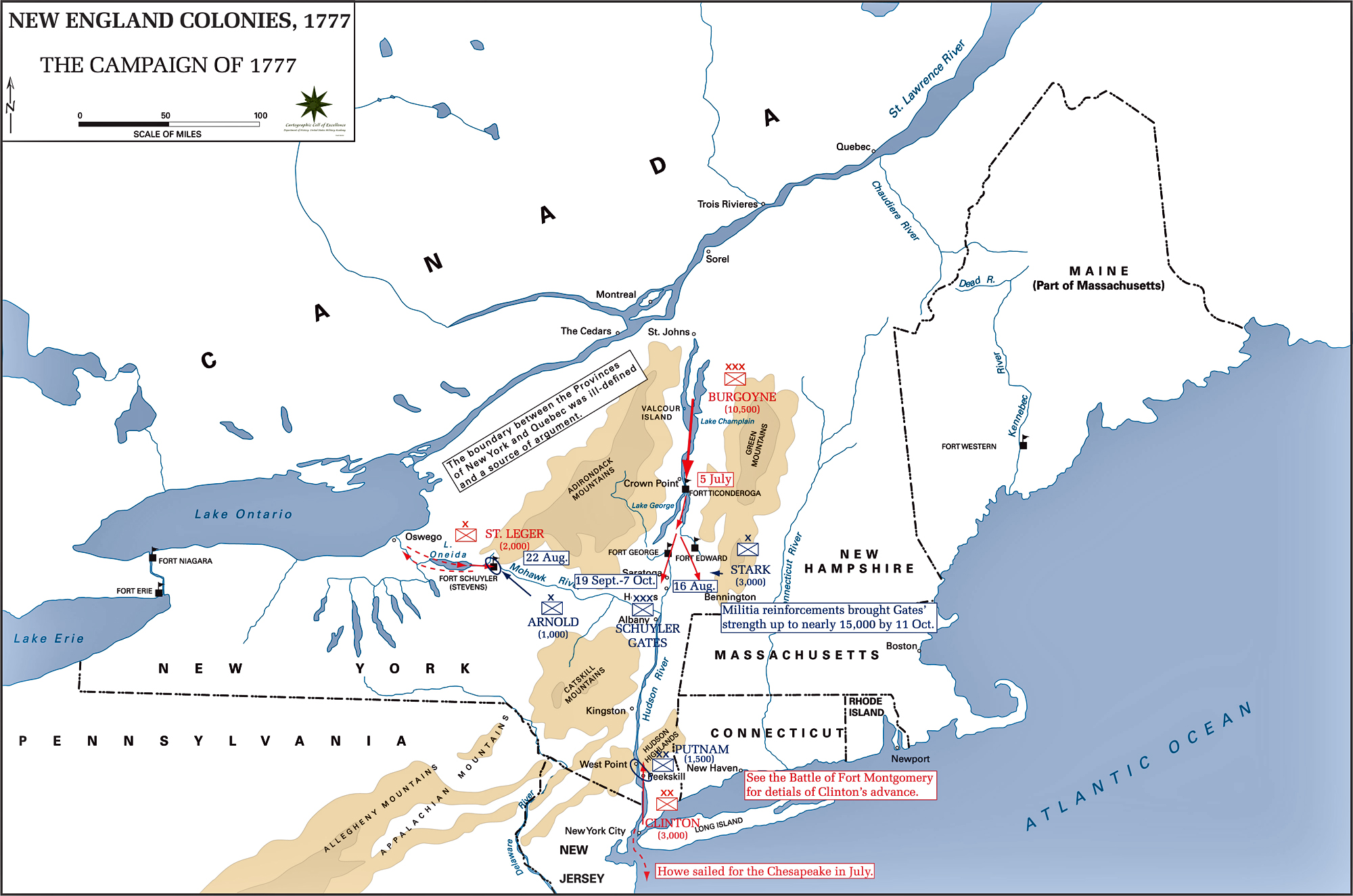 Map of the Campaign of 1777