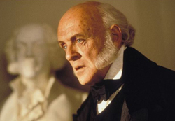 Anthony Hopkins is John Quincy Adams in Amistad, 1997