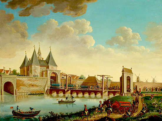 Prussian Troops Enter Amsterdam at the Leidsepoort - October 10, 1787
