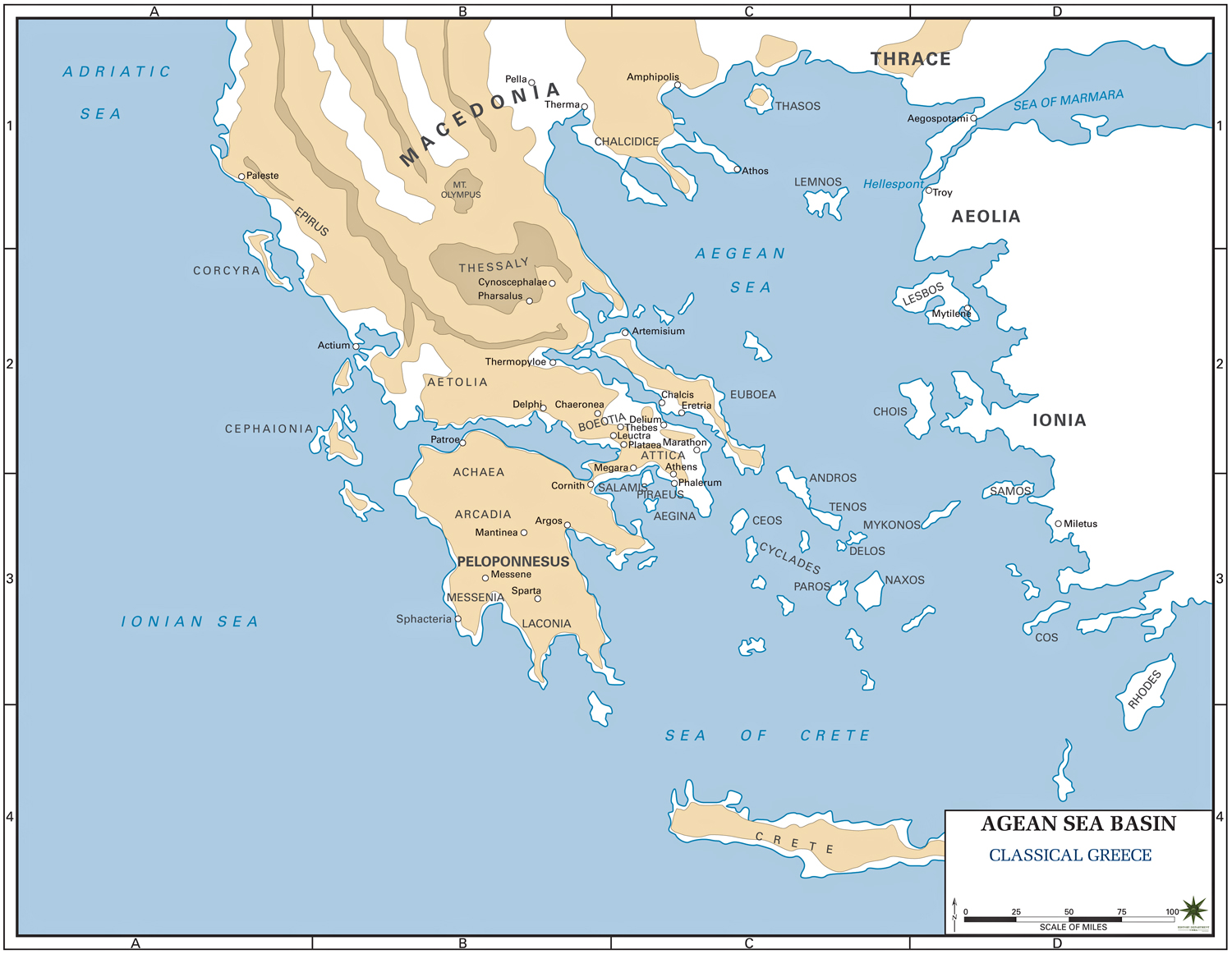 Map of ancient greece gumiabroncs Gallery