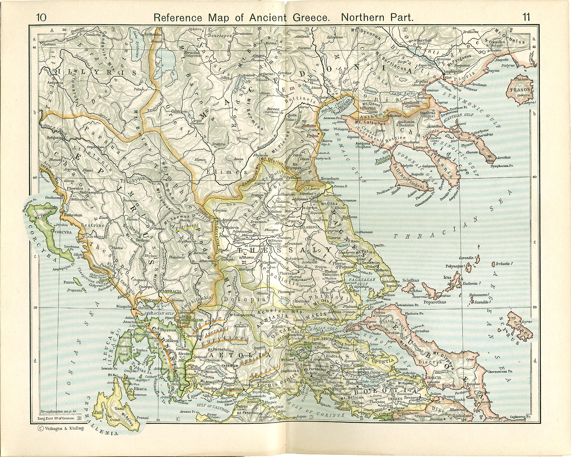 Map of Ancient Greece (North)
