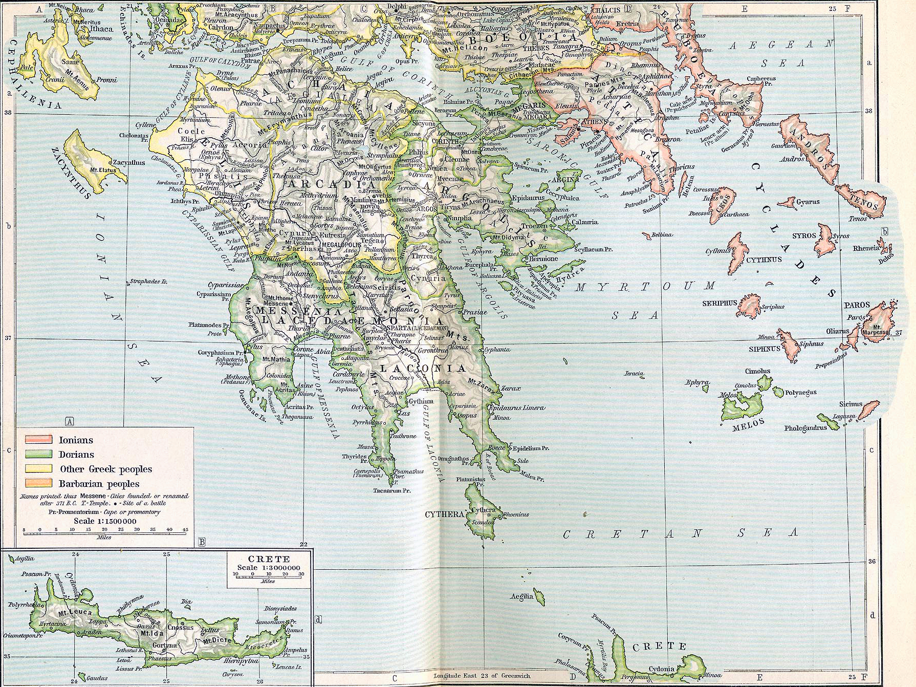 Sea Of Marmara Ancient Greece Map.Map Of Ancient Greece South