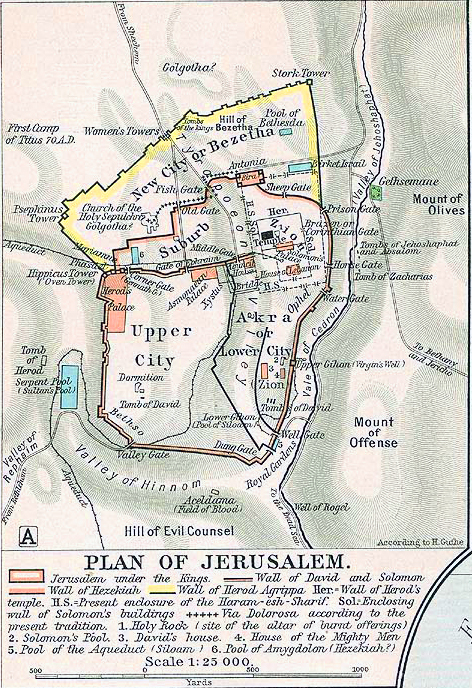 Ancient World Map Jerusalem