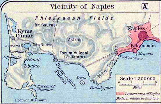 Map of the Vicinity of Ancient Naples
