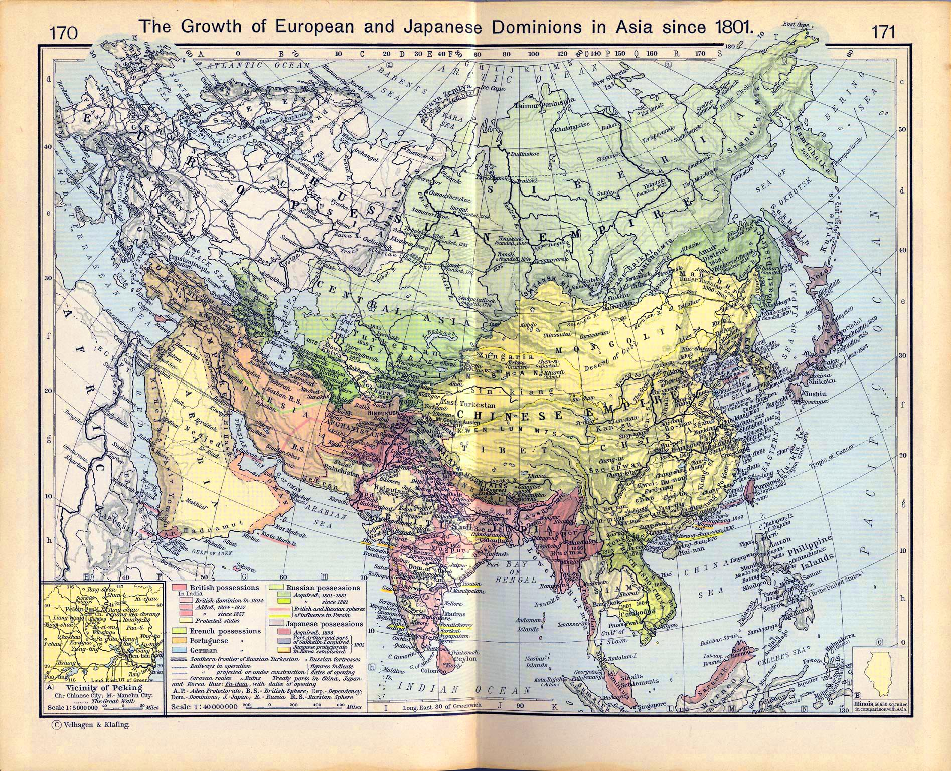 European Map 1910 Map of European And Japanese