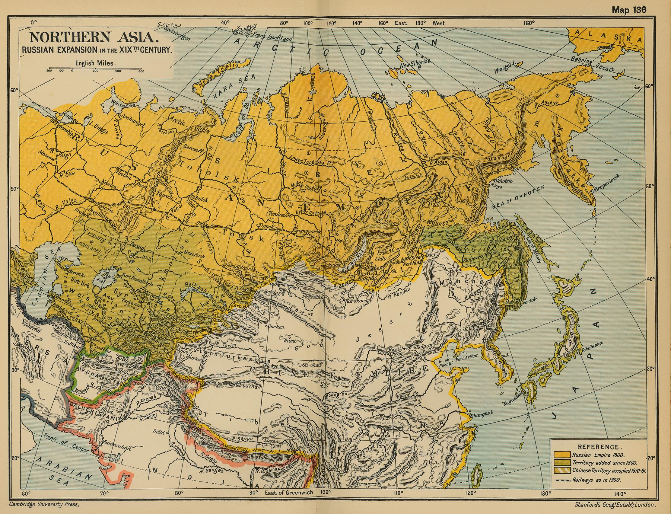 Map of Asia 19th Century