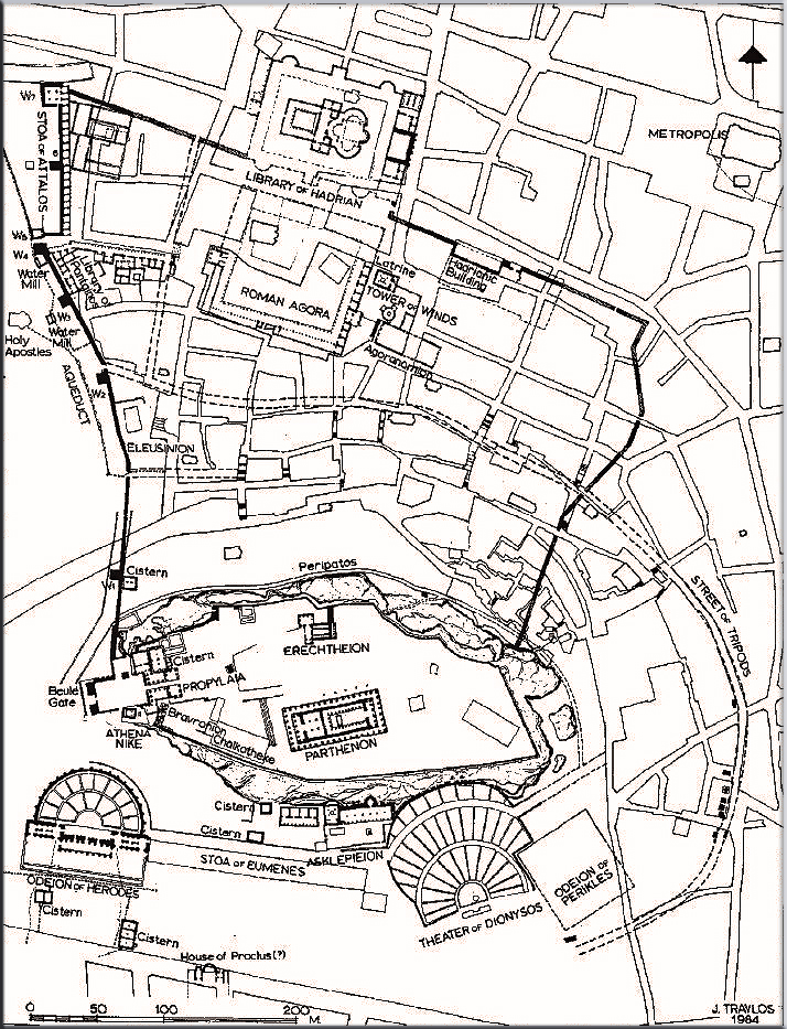 Map of Ancient Athens Map Of Downtown Rome on
