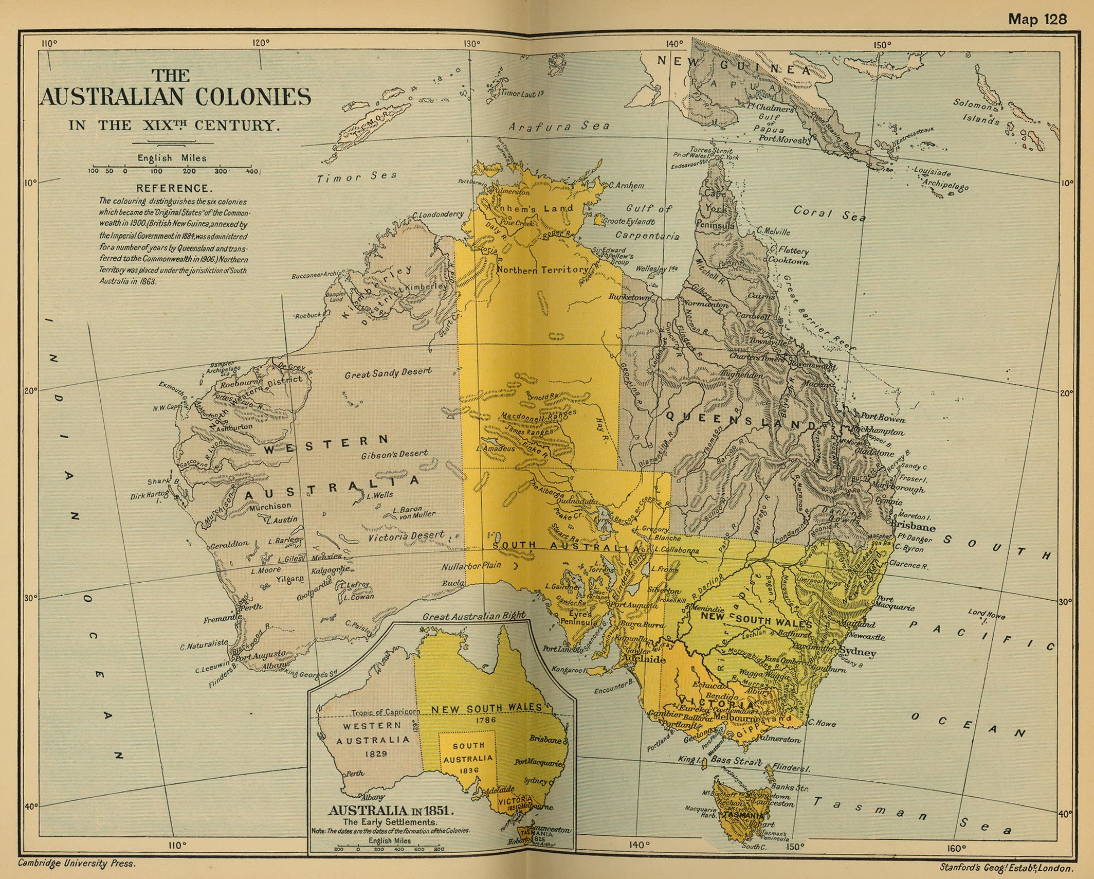Australia Map 1900.Map Of Australia In The 19th Century