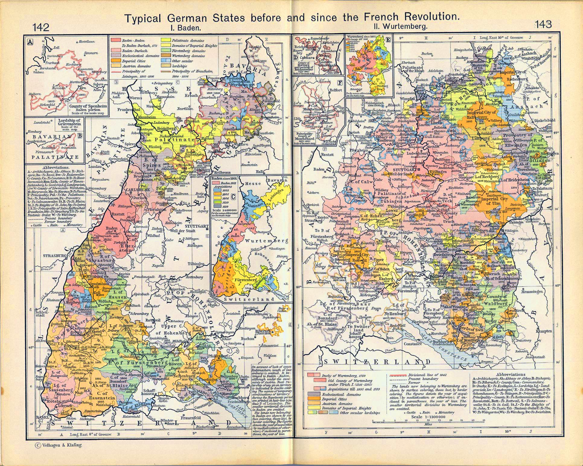 Map Of Texas In 1800.Map Of Baden And Wurtemberg 1241 1911