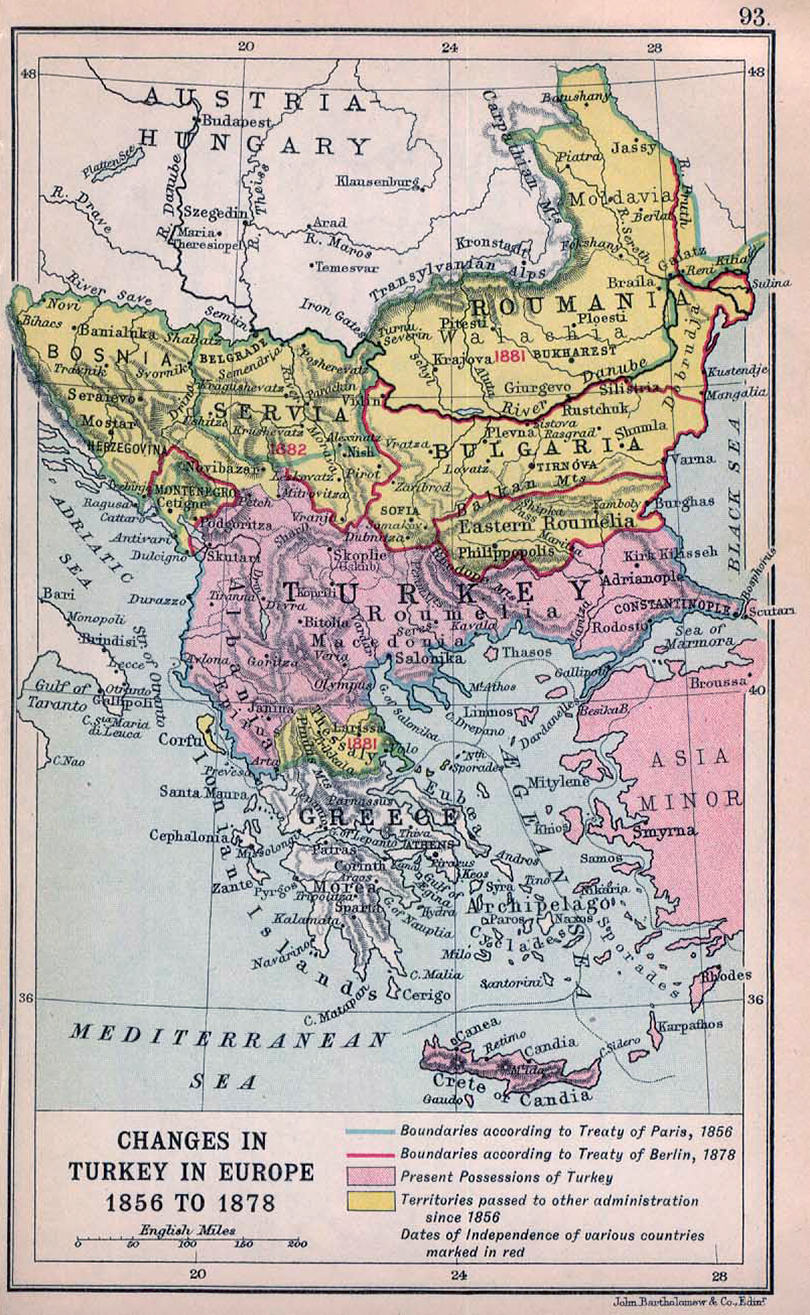 Map of the Balkans 1912