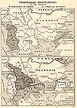 Map of the Balkans 1913 - Conference of London, May 1913, and Treaty of Bukarest, August 1913