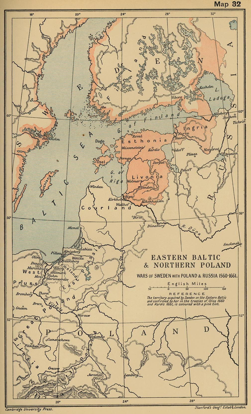 Map Of The Baltic Regions And Poland - Sweden russia map