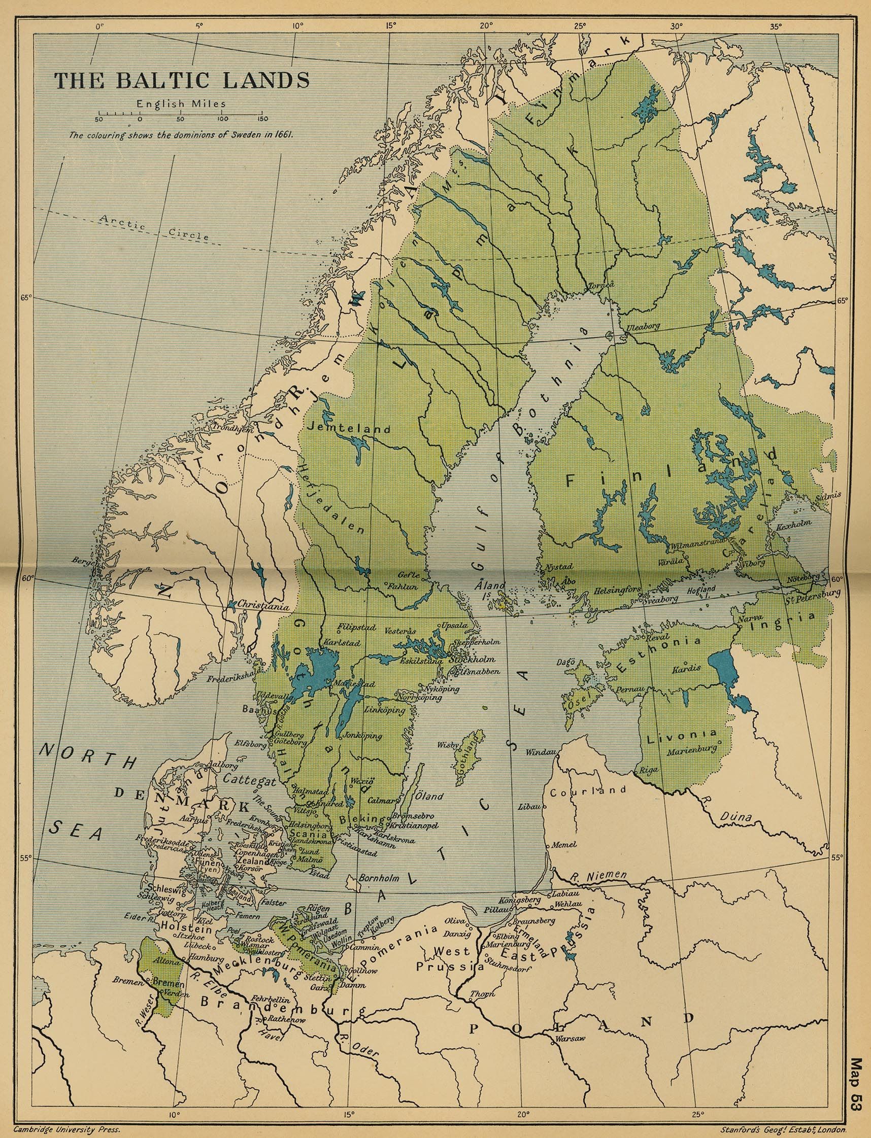 Map Of The Baltic Lands In - Sweden map 1800