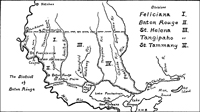 Map of West Florida 1810: Feliciana, Baton Rouge, St. Helena, Tangipahoa, St. Tammany - Preview