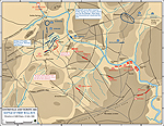 Map of the First Battle of Bull Run - July 21, 1861