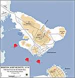Map of the Battle of Bunker Hill - June 17, 1775 - Second British Attack