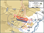 Map of the Battle of Leuthen - December 5, 1757 - The Press