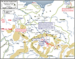 Map of the Seven Years War: Withdrawal 1757