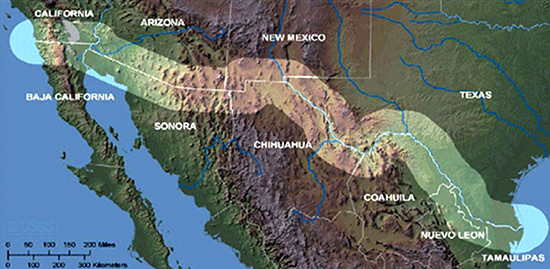 Map Of Mexico And Us Globalinterco - Mexico us border map