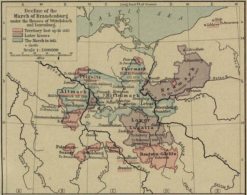 Map of Brandenburg 13201415