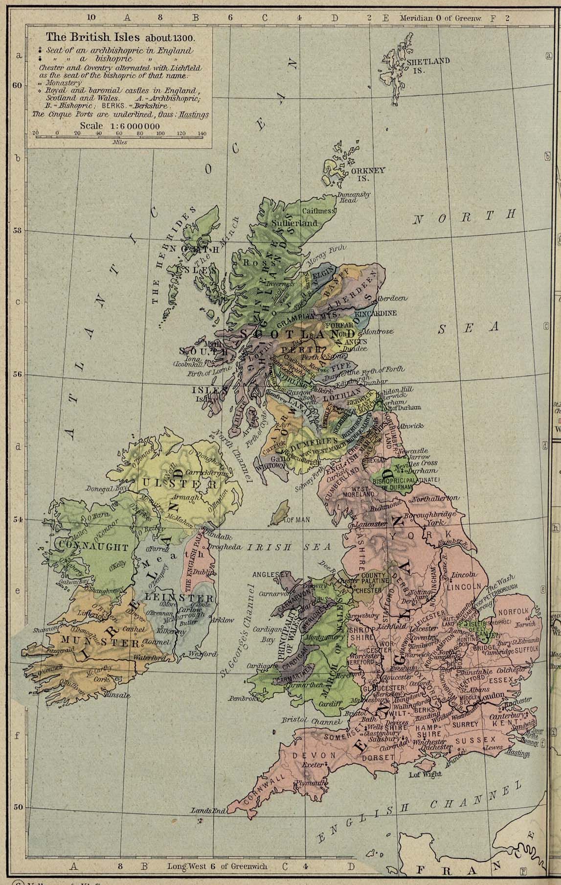 Image result for map of england 1300