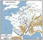 Map of Caesar's Campaign Against the Helvetii 58 BC