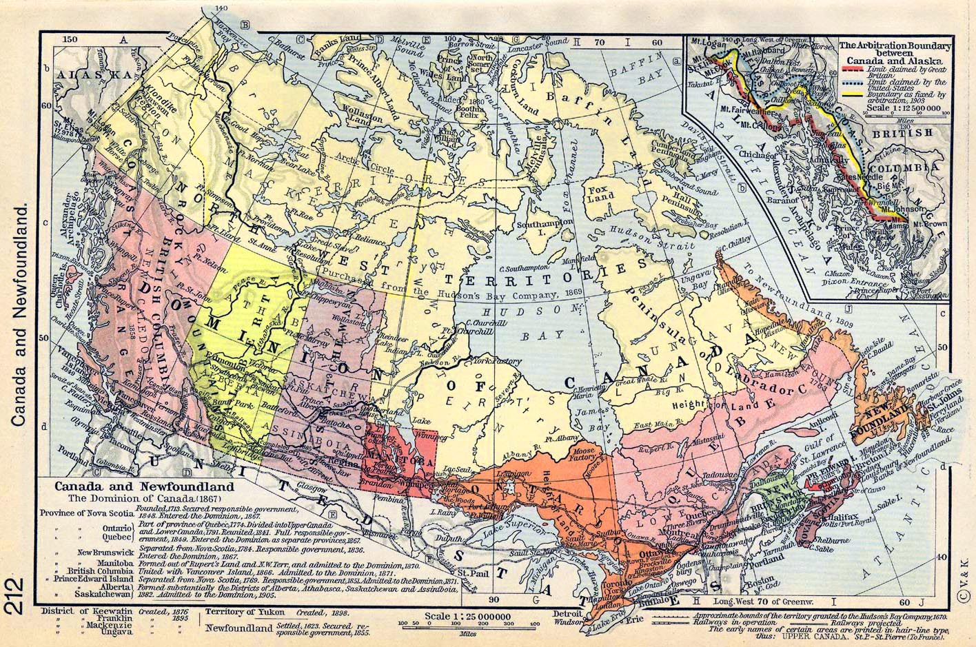 Map Of Canada 1905.Map Of Canada And Newfoundland 1623 1905