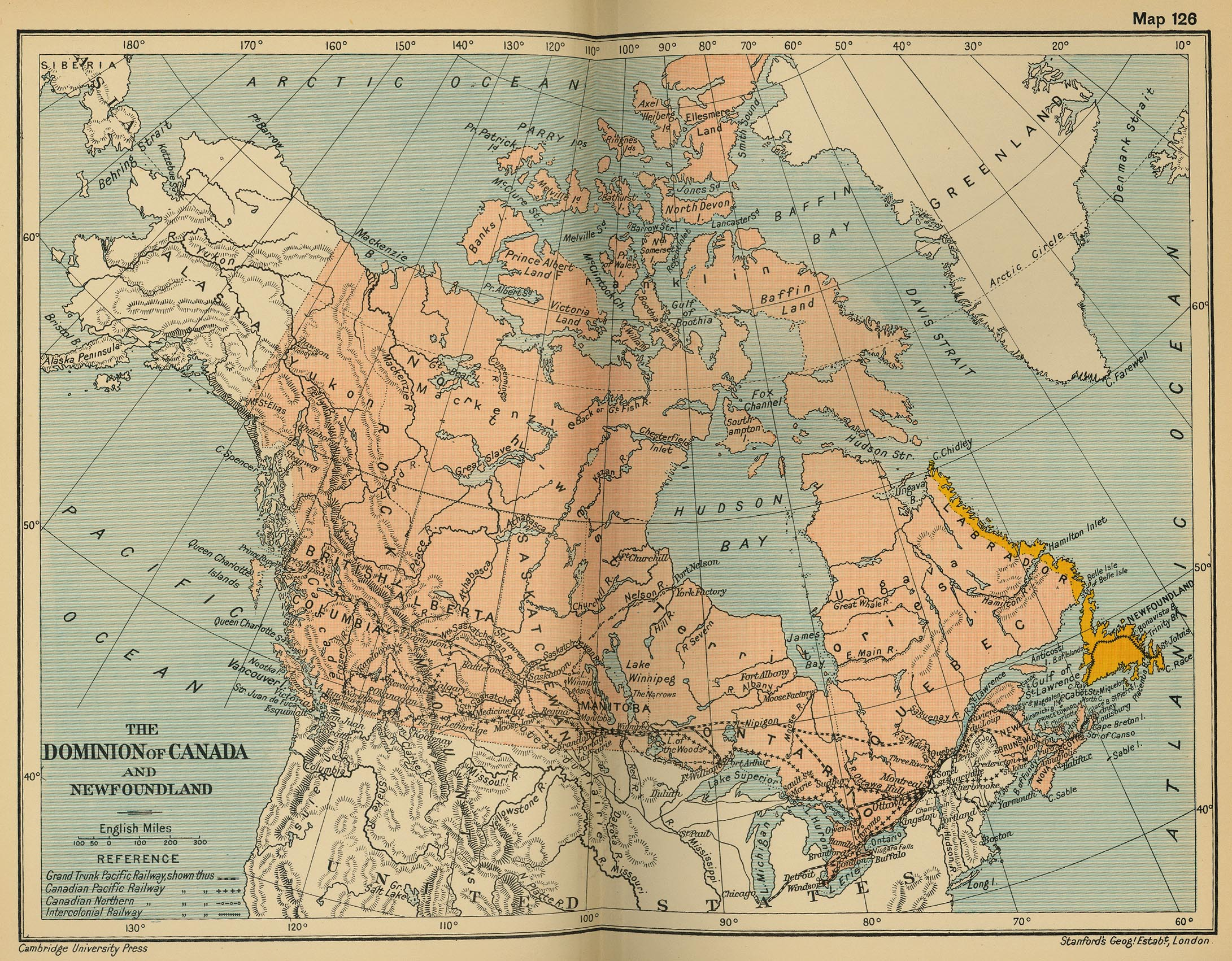 Of The Dominion Of Canada And Newfoundland - Newfoundland map