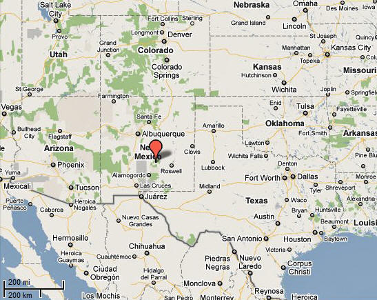 New Mexico Map Google