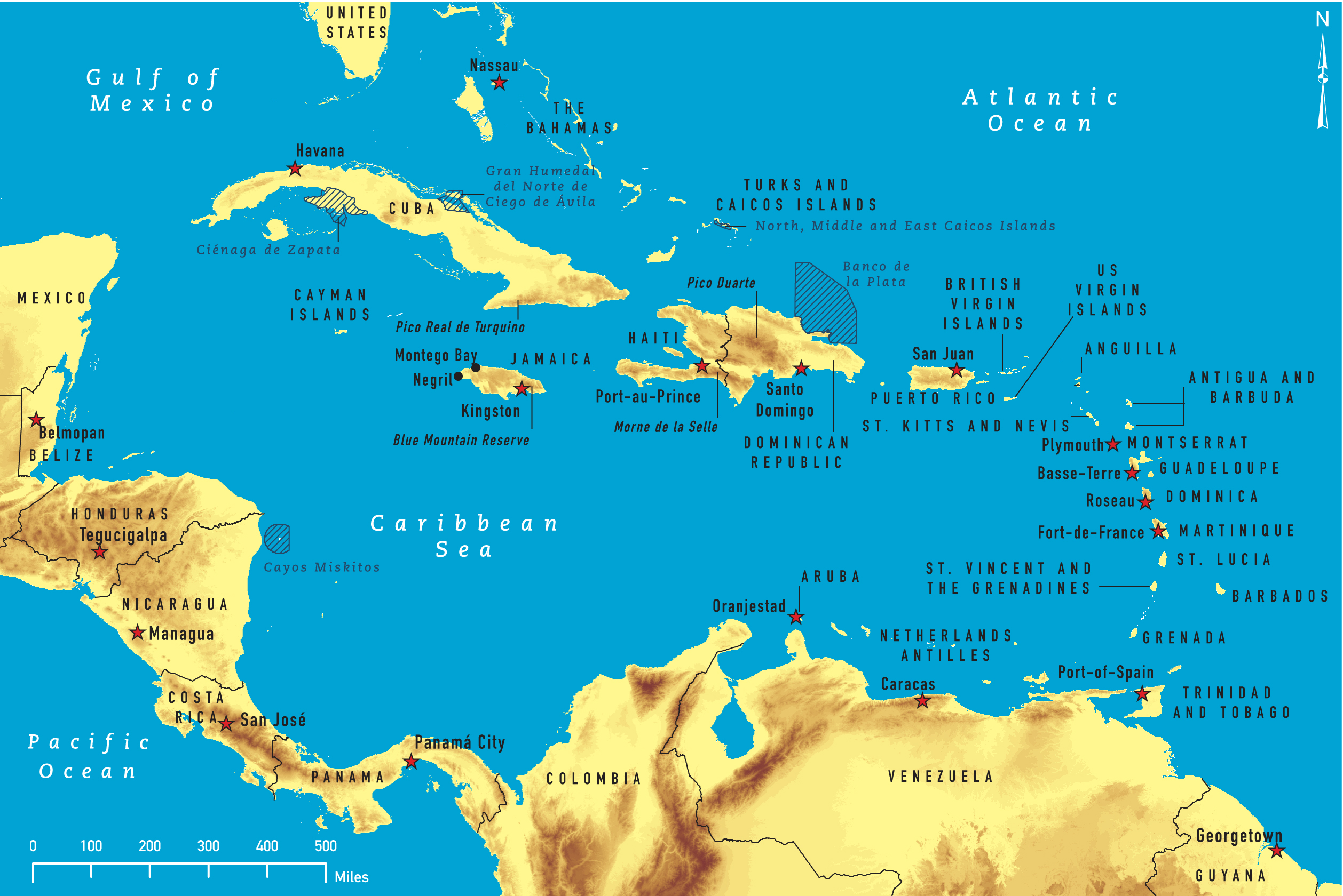 Of The Caribbean - Map of caribbean