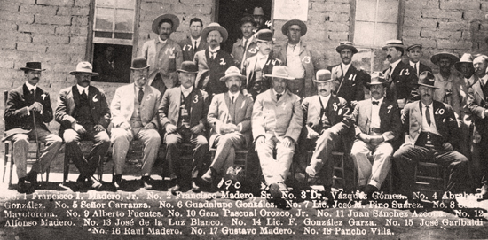 Mexican Revolution Group Shot - Madero, Carranza, Villa et al