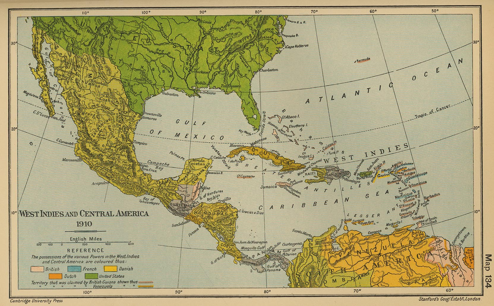 of the West Indies and Central America 1910