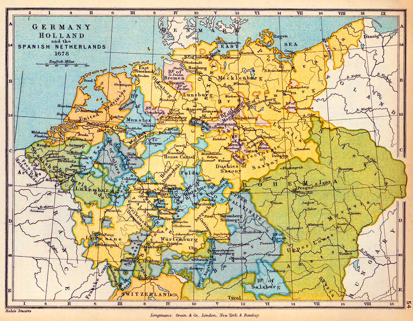 Map Of Central Germany.Map Of Central Europe 1678