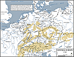 Map of Central Europe 1740