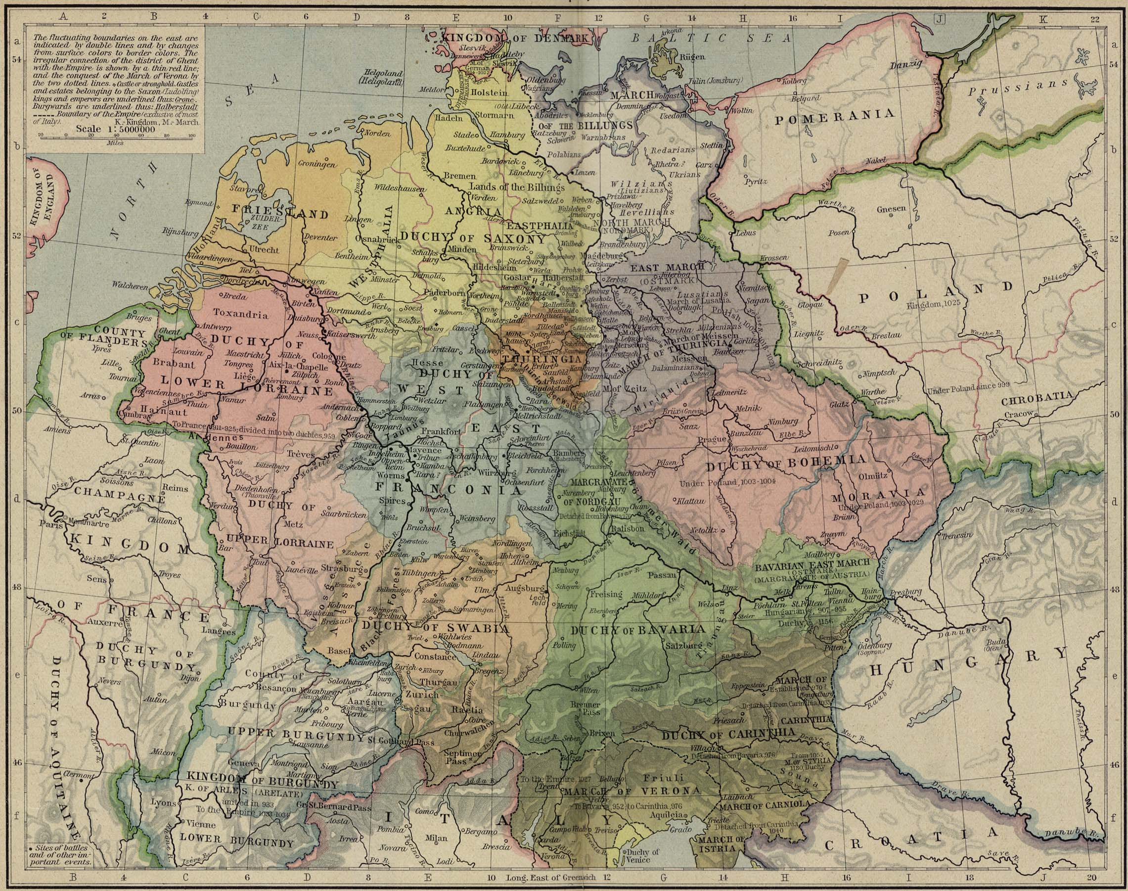 Map of Central Europe 919-1125