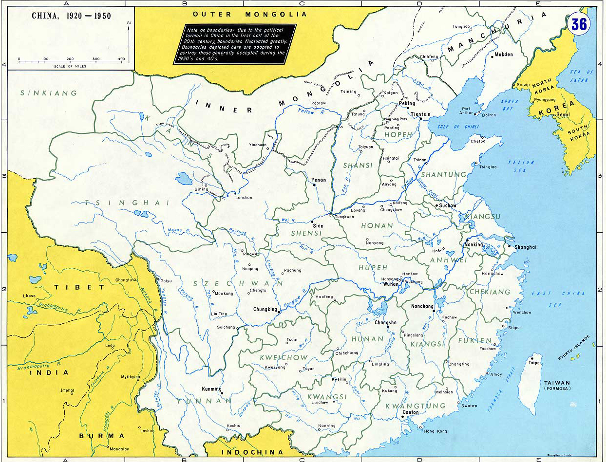 Map of china 1920 1950 map of china 1920 1950 gumiabroncs Gallery