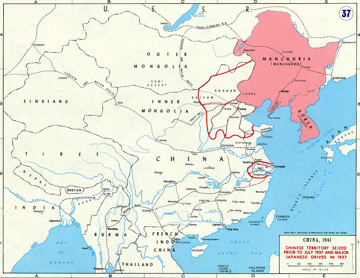 Map Of China 1937