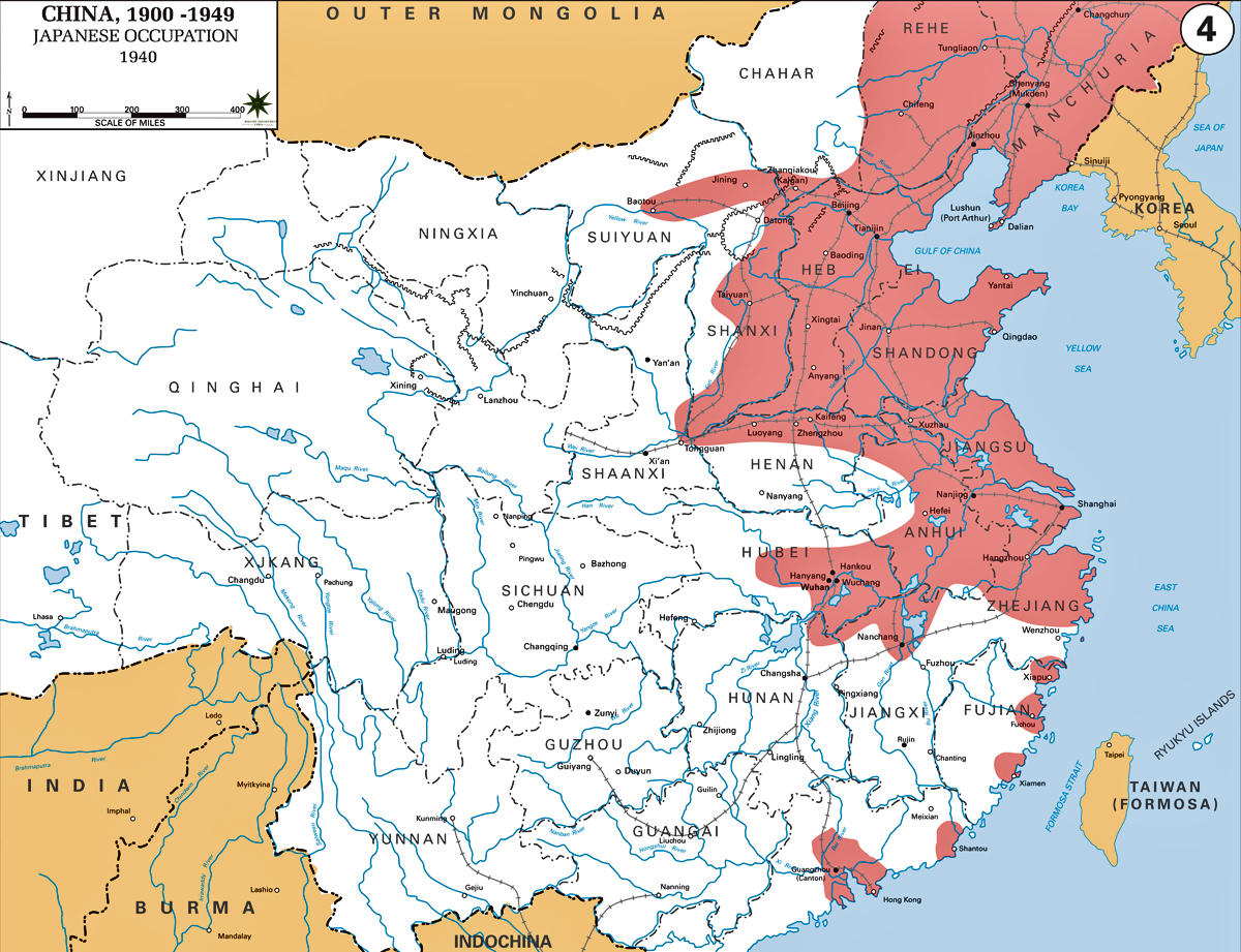 Of China Japanese Occupation - Japan map 1600