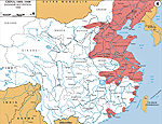 Map of China 1940: Japanese Occupation