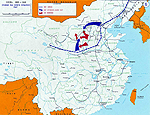 Map of China 1947 - Chiang Kai-shek's Strategy