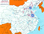 Map of China - Communist Offensives Nov 1948-Jan 1949