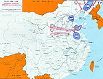 Map of China - Communist Offensives Sept-Nov 1948