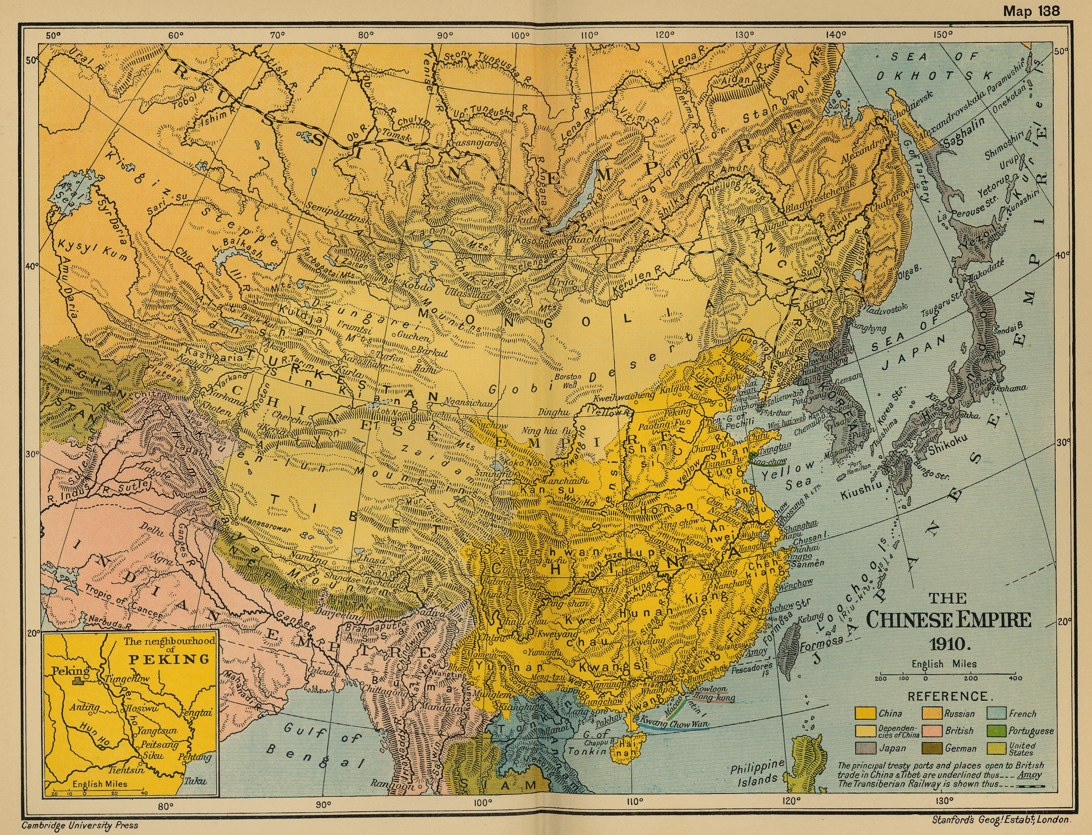 Map of the Chinese Empire 1910