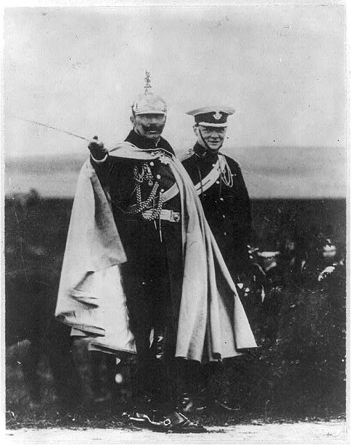WINSTON CHURCHILL AND KAISER WILHELM IN 1909