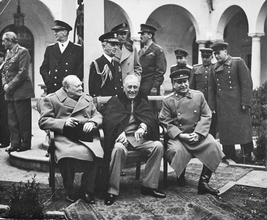 YALTA CONFERENCE 1945: CHURCHILL, ROOSEVELT, AND STALIN